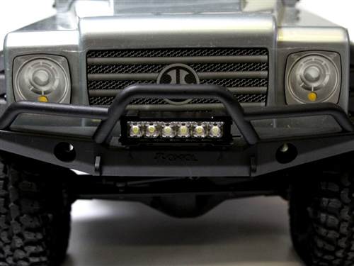 Gear head rc six shooter led light bar rc truck stop shooter features six ultra bright leds in a ultra low profile it is 22 long and is cnc machined out of black delrin this new smaller led light bar aloadofball Images