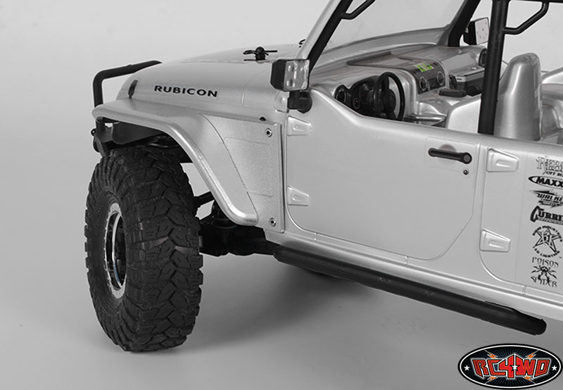 Aluminum Truck Fenders : Rc wd aluminum tube front fender with body panel for axial
