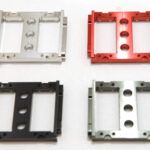 STRC Aluminum Heavy Duty Servo Mount Tray and 6.5mm Brass Hex Adapters for Element RC Enduro