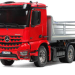 Tamiya Mercedes-Benz Arocs 3348 6×4 Tipper Truck Red Cab & Silver Bed Edition
